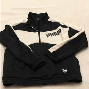 Puma half zip up sweatshirt